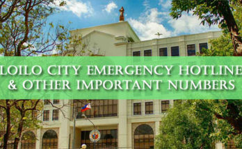 iloilo city emergency hotlines
