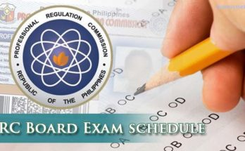 prc board exam schedule 2018