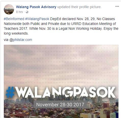 walang pasok advisory