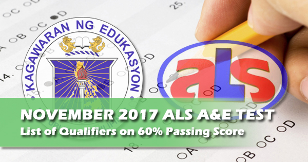 deped als test results update