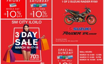 sm city iloilo 3-day sale